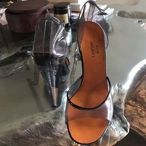 Vintage lanvin acrylic platforms heels